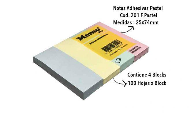 Pastel Notas Adhesivas